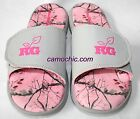Realtree Girl Ms Zack Pink Camouflage Ladies Slides Camo Sandals