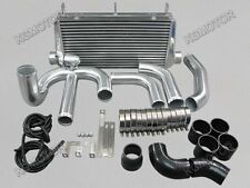 "For 93-02 Toyota Supra MKIV 2JZ-GTE 3"" Core FMIC Intercooler Kit Black"