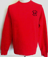 FRED PERRY Sweater Men's Sweatshirt Large Logo C/Nk Red Sizes: S,XL & XXL