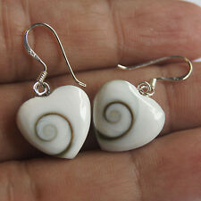 Nice Heart Sterling Silver Thai Shiva Eye Earring