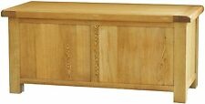 Pendle solid oak bedroom furniture large storage blanket box chest trunk