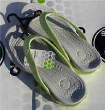 CROCS KIDS ITHACA ATHENS CAPRI FLIP FLOP SHOES~Green White~Junior 2 W 4~NWT
