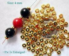 100 Outstanding Gold Plated Flat Heishe Beads 4MM