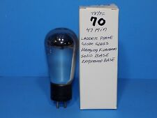 *** MAJESTIC G-45 GLOBE TUBE WITH NOS TEST. LADDER PLATE ENGRAVED BASE 245 345
