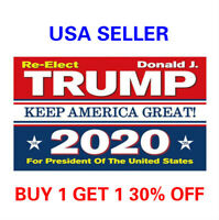 3x5 Ft Trump Flag 2020 Re-Elect Keep America Great President Donald Trump r1