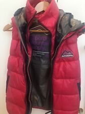 SUPERDRY Womens Puffer Vest Double Hood Small