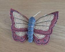 Handmade Felt Butterfly Badge.