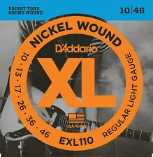 More details for d'addario exl110 nickel wound electric strings 10-46, medium/blues-jazz rock