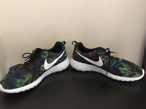 Nike Roshe Floral Athletic Shoes for