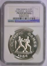 1984 Silver Proof 10 Tala SAMOA Olympic Boxing ~ NGC Proof Details