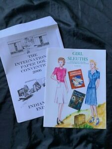 Intl paper Doll Convention Souvenir Indianapolis 2006-- Girl Sleuths by John Axe