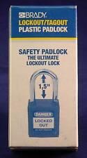 "Brady Lockout Tagout Padlock 1.5"", Red, New  Free Shipping"