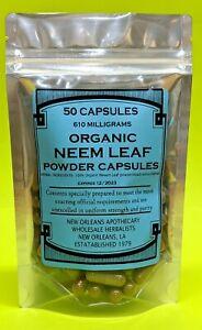 100%*Organic*Neem Leaf*Powder capsules(Azadirachta indica)