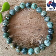 AFRICAN TURQUOISE Gemstone Bracelet Crystal Healing 100% Natural Stone Beads