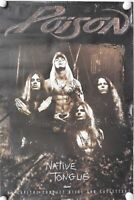 Poison JSA Signed Autograph Promo Poster Bret Michaels Native Tongue