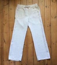 M&S Collection Oatmeal Wide Leg Linen Trousers - 10 L