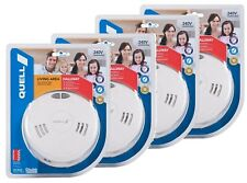 Quell Photoelectric Smoke Alarm Detector 240V Interconnectable set of four units
