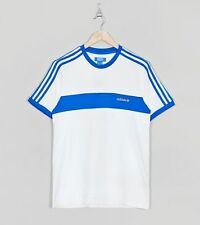 adidas x Size? WHITE & BLUE HAMBURG LARGE T-SHIRT Tee Limited Release Deadstock