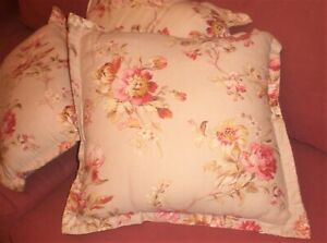 VinTaGe THroWs~SHABBY COTTAGE FLORAL~Soft Cloth PILLOWS~Bed/Couch/Chairs/Bench
