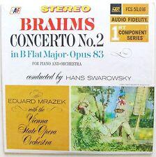 BRAHMS Concerto No. 2 ~ Eduard Mrazek / Vienna State Orch. AUDIO FIDELITY EX