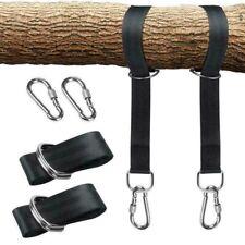 More details for hammock tree hanging swing straps kit hooks carabiner fitting 1000kg heavy duty