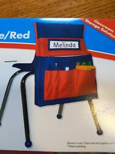 Chairback Buddy Blue/Red by Carson-Dellosa  - Chair pocket organizer new