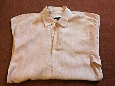 JAEGER   MENS LONG SLEEVE  STRIPE SHIRT    SIZE SMALL