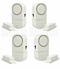 4 WINDOW AND DOOR ENTRY BURGLAR INTRUDER SONIC ALARM SYSTEM WIRELESS SENSOR LOUD