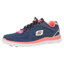 Scarpe da ginnastica pelle sintetici marca Skechers per donna stringhe