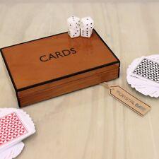 Purna teak Carta da gioco set PIANO STILE FINITURA ASTUCCIO DI PRESENTAZIONE