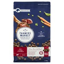Farmers Market Adult Dry Dog Food Beef With Farm Vegetables 2.7 kg
