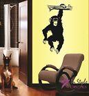 Wall Vinyl Decal Hanging Chimpanzee Wild Animal Ape Vinyl Sticker Home Decor 36