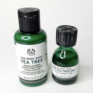 Lot The Body Shop Tea Tree Oil 20mL Skin Clarifying Mattifying Toner 60 mL New