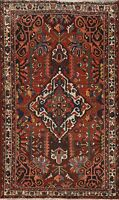 Antique Vegetable Dye Tribal Geometric Area Rug Hand-knotted Oriental 5x7 Carpet