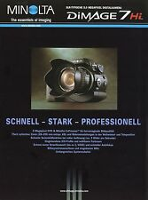Prospekt brochure Minolta Dimage 7Hi  8 02 2002 Digitalkamera Kamera Werbung