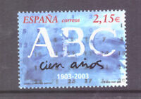 Spanish Stamps - 2003 Centenary Of ABC Newspaper In MNH