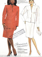 McCalls 3533*Career Power Suit 2 Lengths Jacket & Straight Skirt Pattern*12*FF