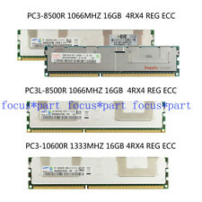 16GB 32GB 64GB DDR3 1066 1333MHZ PC3 8500R 10600R 4Rx4 ECC REG Memory Server lot