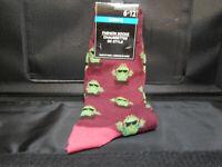 Mens Purple Novelty Socks size 6-12-Catcus