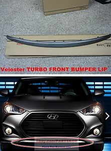 For 2012 ~ HYUNDAI VELOSTER TURBO FRONT BUMPER LIP GENUINE PART UNPAINTED