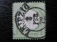 DEUTSCHES REICH Mi. #2 used Shield stamp w/ Schraubkopf error! CV $60.00+