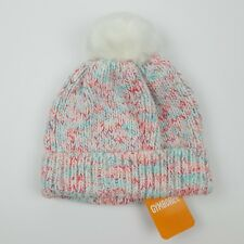 85734211c0f Gymboree Knit Pink blue white Beanie Cap Pom Girls Size S