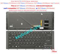 New for Sony SVF15Nxxx,Fit 15Nxxx SVF15N19SCS SVF15N19SCP keyboard backlit black