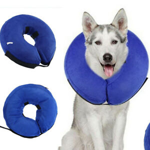 UK Dog Puppy Cat Pet  Inflatable Collar Post Surgery Lampshade Cone Neck Injury