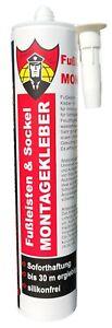 Fußleistenkleber & Sockelkleber & Montagekleber 290 ml mit SOFORTHAFTUNG !