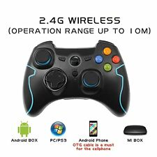 US EasySMX Wireless 2.4g Game Controller for PC/PS3/Android/TV Box Blue/Black