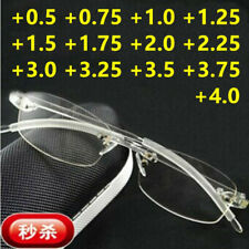 TR90 Flexible Reading Glasses Rimless Reader +0.5 +0.75 1.0 1.25 1.5 +1.75... +4