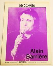 Partition vintage sheet music ALAIN BARRIERE : Boopie * 70's