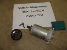 01 02 99 98 KAWASAKI Bayou 220 electric starter motor start oem reduction gear