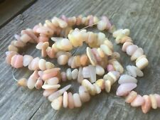 "7.5"" Pink Morganite Gemstone Natural CHIPS 4-8mm, Approx 65 Beads"
